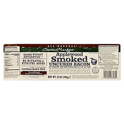 Central Market Natural Applewood Stack Bacon, 12 oz
